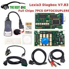 Melhor ouro pcb lexia 3 pp2000 completo chips diagbox v7.83 921815c aer lexia3 v48/v25 Lexia-3 para citroen/peugeot ferramenta de diagnóstico