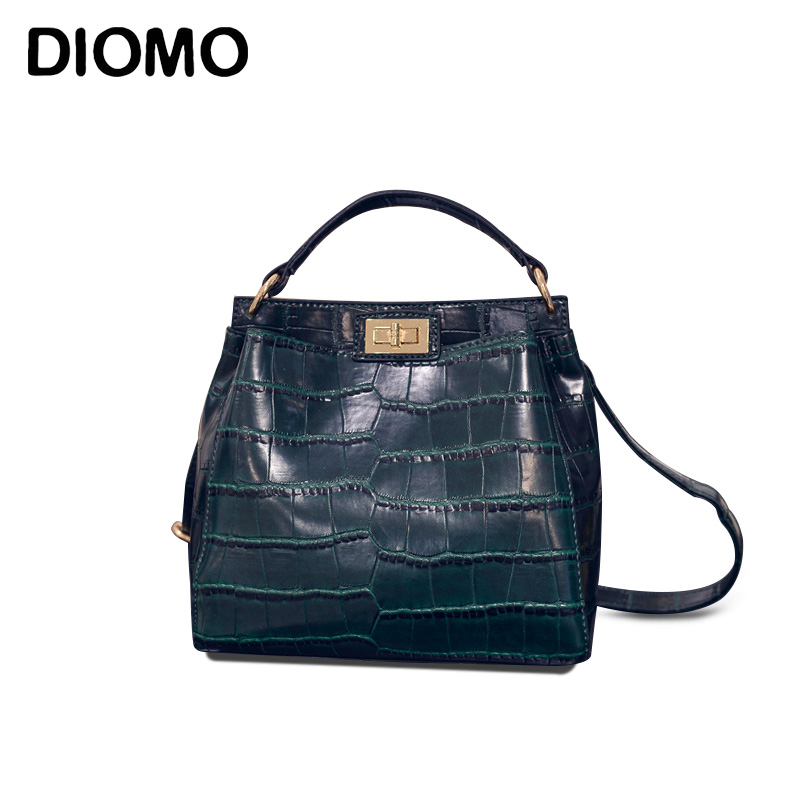 DIOMO women messenger bags small crocodile for girls crossbody bag for women shoulder bags female sac a main femme bao bao fashion fresh floral girls shoulder bags female handbag canvas small crossbody bag for women sac a main bolsas b086