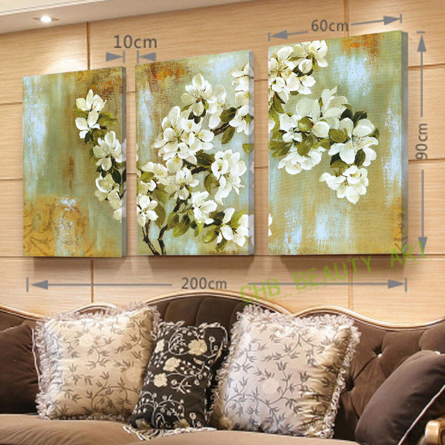 2017 The Apple Blossom Wall Painting Hd Flower Home Decor Canvas Paintings Wall Pictures For Living