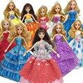 Рождественские Подарки Для Девочек Игрушки Куклы Аксессуары, 30 шт = Платье + Обувь + Вешалки Свадебное Платье Одежда для Куклы Барби