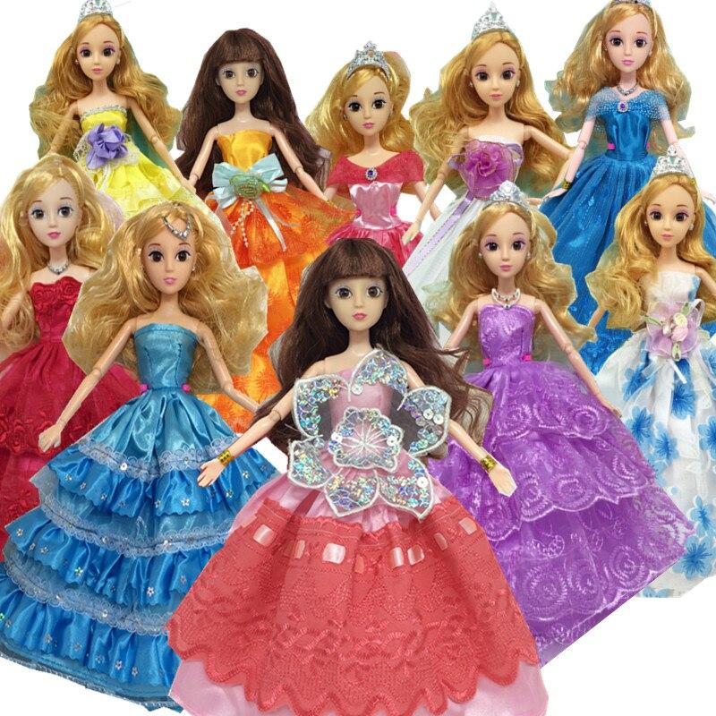 01fb782877a5a Kızlar Için noel Hediyeleri Oyuncaklar Bebek Aksesuarları, 30 items = Elbise  + Ayakkabı + Askılar düğün elbisesi Giyim elbise Için barbie bebek