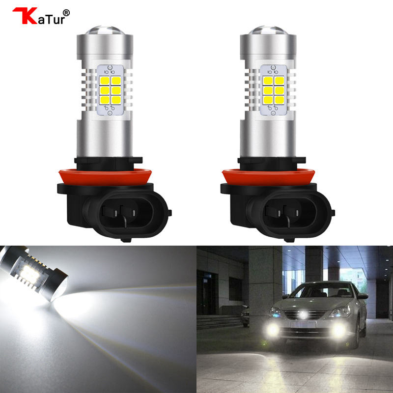 Katur 2x H8 H11 LED Bulbs H7 H10 9145 HB3/9005 HB4/9006 2504 PSX24W 5202 H16 LED Fog Light Bulbs DRL Lamp Bright White 6000K рюкзак madpax rex 2 half light blue multicolored kab24485083 225874