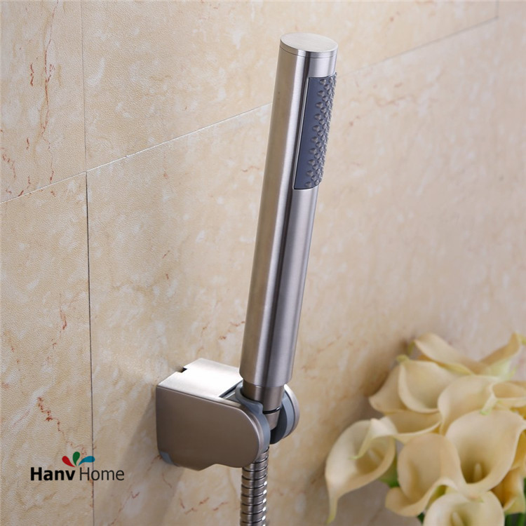 stainless steel brushed nickel hand held shower head u0026 shower holder u0026150cm shower hose bathroom replacement