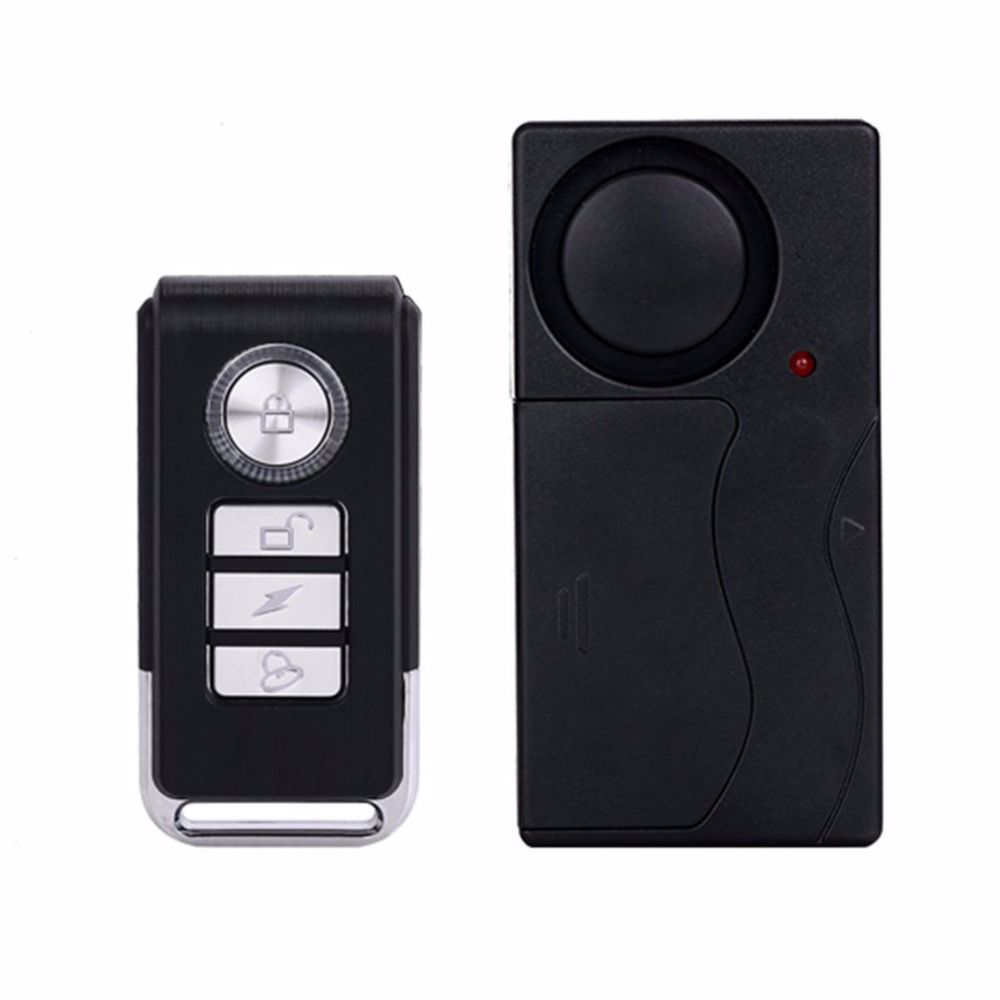 Practical Wireless Remote Control Vibration Alarm Sensor Door Window Car Home House Security Sensor Detector leshp 105db wireless remote control door vibration alarm sensor door window home security sensor detector with remote control