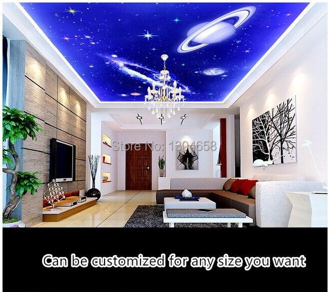 angepasst traum star universe tapeten f r die abgeh ngte decke von schlafzimmer. Black Bedroom Furniture Sets. Home Design Ideas