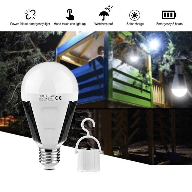 Waterproof outdoor light Solar Light 7W 12W 85-265V Solar Lamp Portable E27 Led Bulb Light Energy Lamp Led Lighting Solar Panel