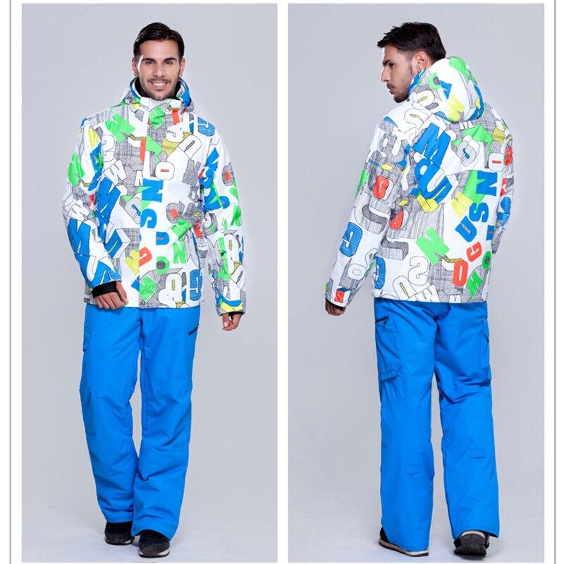 Gsou snow ski suits men waterproof warm ski clothes Russia -30 Winter  Clothing Set Outdoor Ski men s Suit Set Skiing Windproof e2cd5157f