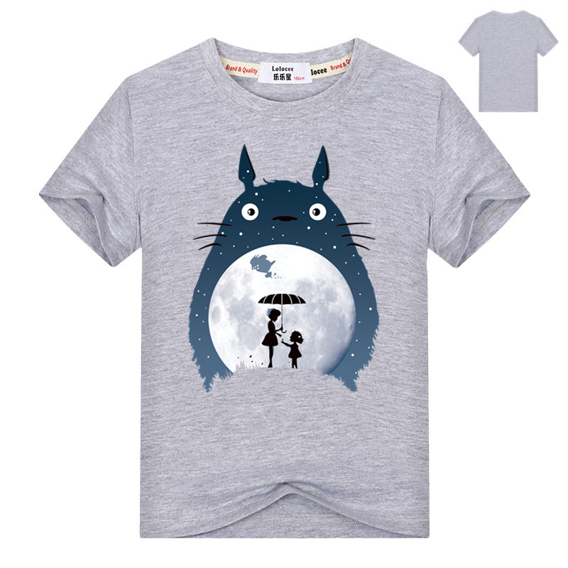 Kids Cartoon Totoro Print Cotton T shirt For Girl/Boy Anime T-Shirts for Children Baby Girls  Kawaii Clothing 2
