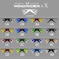 16 Colores X Ventilación Al Aire Libre Jugando Quad Línea Cometa Acrobática 4 Líneas de Playa de Vuelo de Cometas Con 25 M Línea 2 Unids maneja