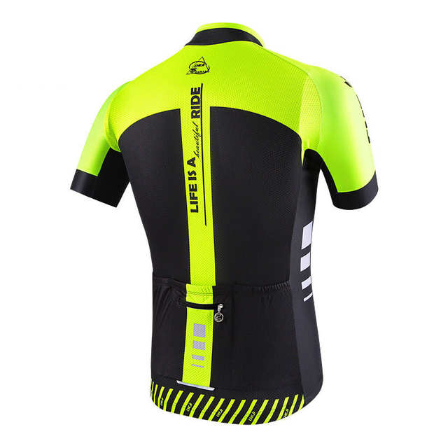 placeholder CHEJI Cycling Jersey High Visibility Men s Bike MTB Shirt  Bicycle Top Fluorescent Green Cycle Sportswear Top 74b33553c