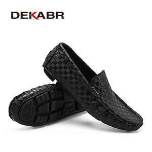 Image 4 - DEKABR High Quality Mens Shoes Fashion Comfortable Loafer Driving Shoes Boat Brand Flats Casual Shoes Men Large Size 38~47