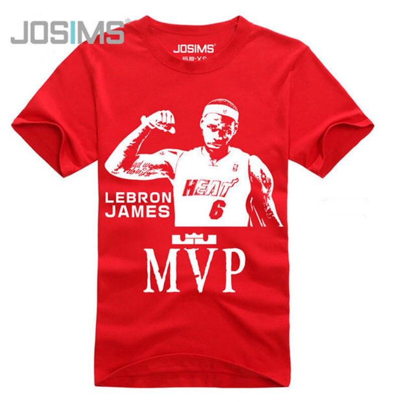 e17a61027e 2016 Verão Estilo de Lebron James Homens Camiseta Homme Homem T-Shirt de  Algodão de Manga Curta Mens Camiseta Comemorativa A1358