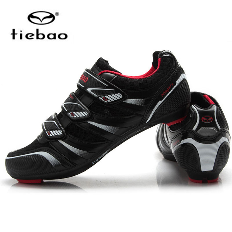 Tiebao Road Cycling Shoes For Women & Men Auto-lock Breathable Cycle Cycling Bike bicycle shoes Sapatilha Ciclismo Zapatillas tiebao cycling shoes for women