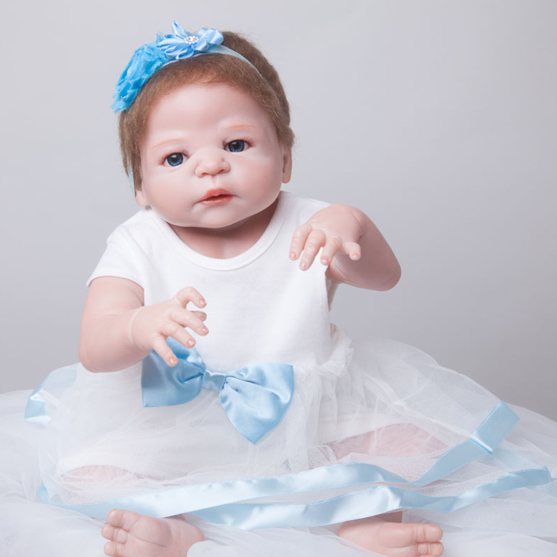 55cm Full Silicone Reborn Baby Doll Toy Realistic 22inch Newborn Princess Toddler Babies Alive Doll With Pacifier Girl Bonecas55cm Full Silicone Reborn Baby Doll Toy Realistic 22inch Newborn Princess Toddler Babies Alive Doll With Pacifier Girl Bonecas