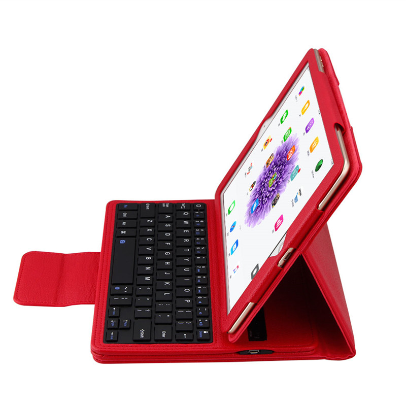 For <font><b>iPad</b></font> 9.7 / 5 / <font><b>6</b></font> / Air/Air 2 / Pro 9.7 PU Leather Luxury <font><b>Case</b></font> Cover Protective Bags Wireless Bluetooth <font><b>Keyboard</b></font> Tablet <font><b>Case</b></font> image