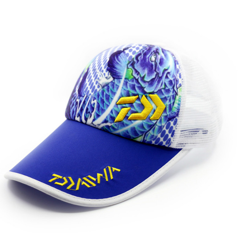 2018 Embroidered painted fishing Dawa cap Fishing Hat Anti-Water Sunscreen Breathable Hat Sea Fishing Cap Breathable Leisure Cap