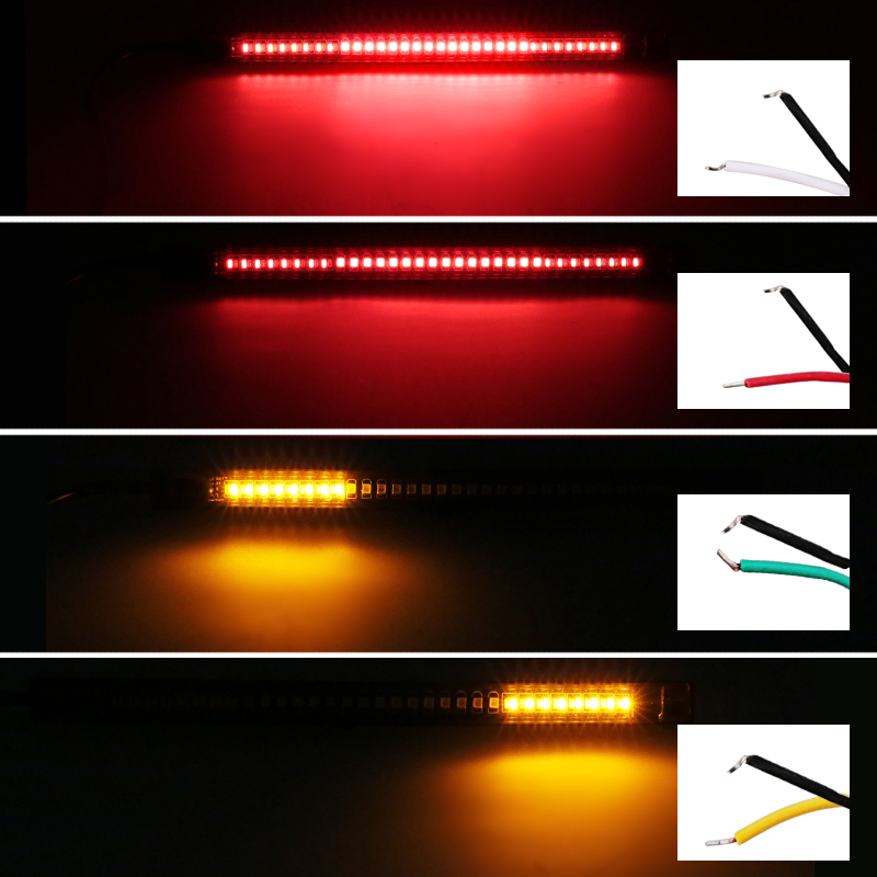 1pc universal flexible brake tail stop light led strip motorcycle 1pc universal flexible brake tail stop light led strip motorcycle led tail light turn signal brake license plate strip flexible on aliexpress alibaba aloadofball Image collections