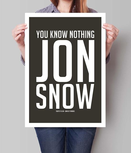 Juego De Tronos Póster Impresión Inspiradora Jon Snow Ygritte Cita