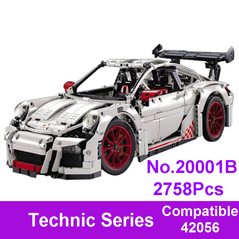 New LEPIN 20001B Technic Series Race Car Model Building Kits Blocks Bricks Compatible With 42056 Children Toys Educational Gift new lepin 16008 cinderella princess castle city model building block kid educational toys for children gift compatible 71040