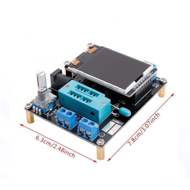 DIY Transistor Tester LCR Diode Capacitance ESR Meter PWM Signal Generator Electrical Instruments
