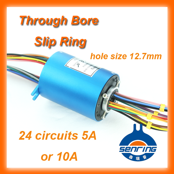 Generator SENRING slip ring 12.7mm of bore size 24 circuits 5A through hole slip rings hole hole live through this