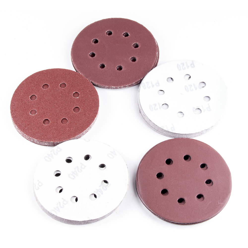Tools Adroit 50pcs/set Loop Woodworking Sander Sand Paper Discs Grit Sand 5 8 Hole 80/120/180/240/320 Grit Sanding Disc Random Orbit Hook 2019 Latest Style Online Sale 50%