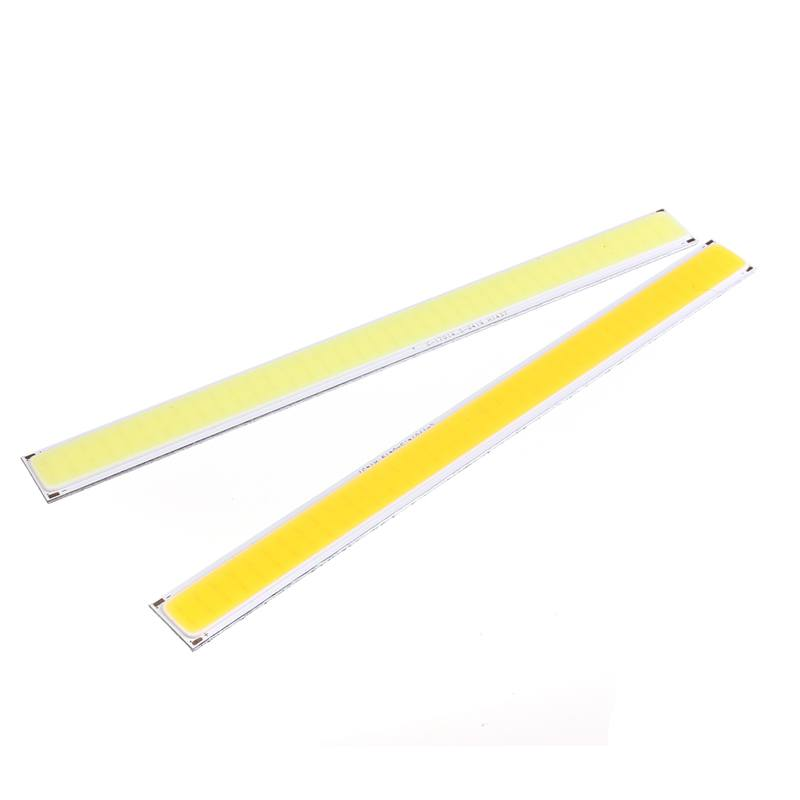 COB 6W 76 LED Chip Strip Bar Light Lamp Bulb For DIY Car Auto Light Source DRL Lamp Pure Warm White Lighting DC12V 520Lume