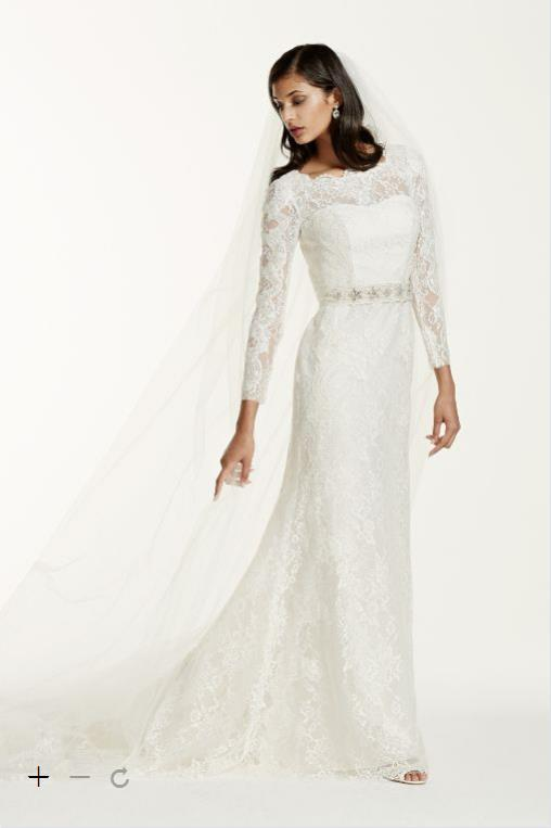 2016 Long Sleeve Sheath Wedding Dresses The Whole Body Lace With Illusion Jewel Neckline And Removable Crystal Sash Swg685 Gowns In From