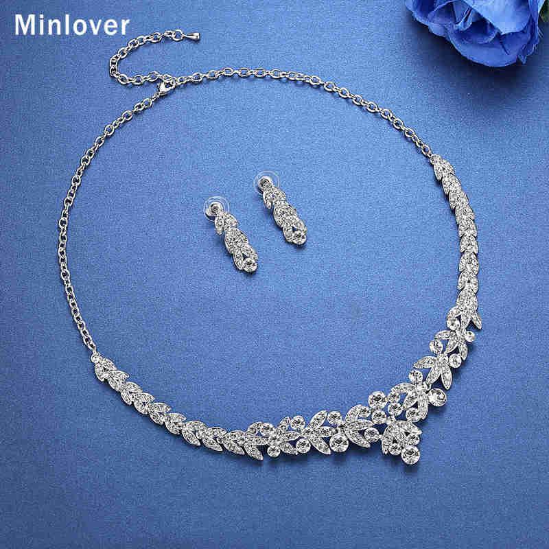Minlover Luksuzni srebrni barvni kristalni nakit za poročne obleke - Modni nakit - Fotografija 4