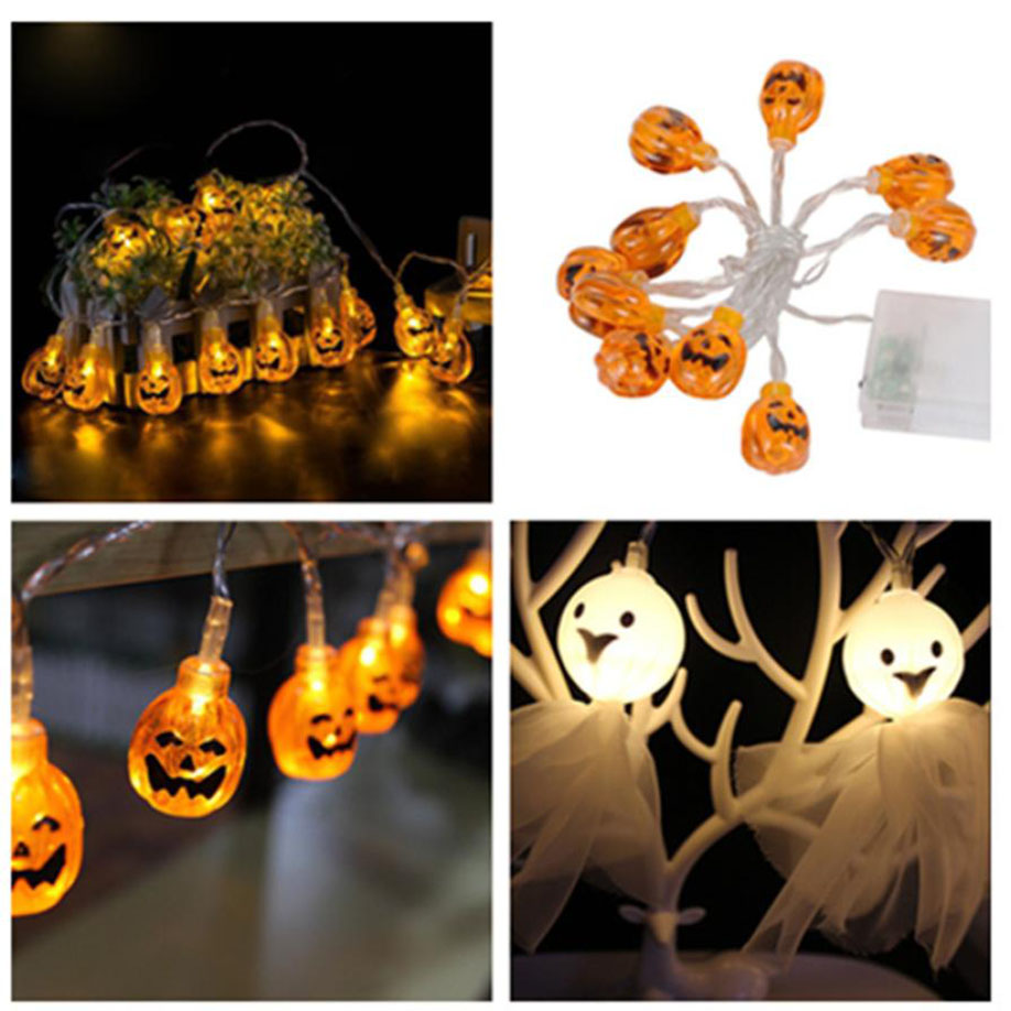 muqgew pumpkin string lights outdoor holiday decoration party for halloween party decor halloween string light 12m 10led in holiday lighting from lights