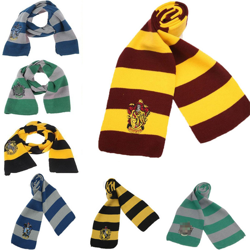 Harri Scarf Ainiel Potter Scarf Gryffindor Slytherin Hufflepuff Ravenclaw Scarf Cosplay Costume Men Women Boys  Girls Scarves