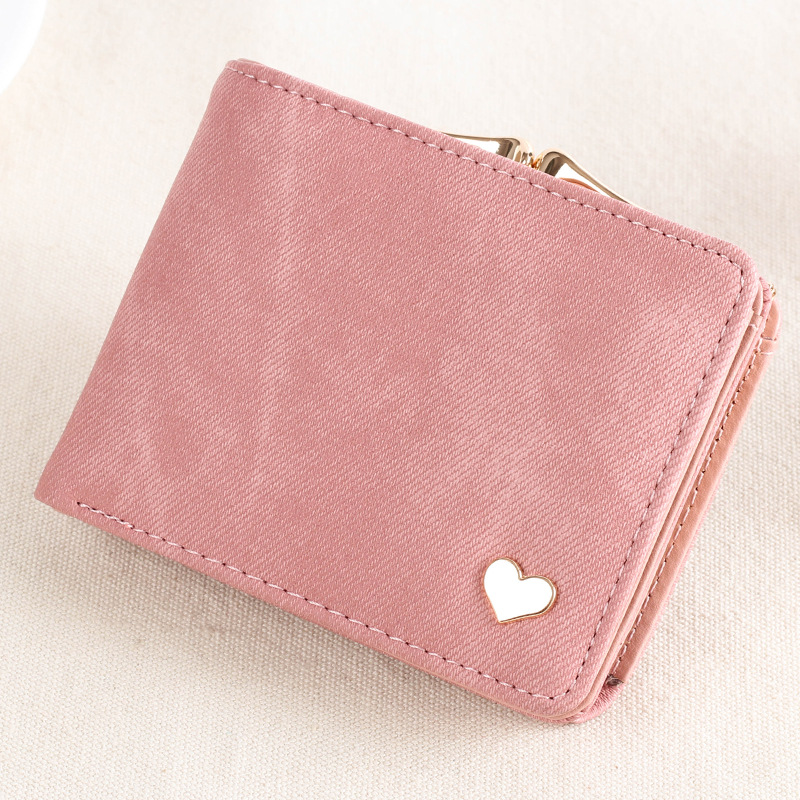 2019 Heart Decoration Clutch Wallet MultiFunction Change Purses Big Capacity Women Wallets Cute Card Holder Money Bag PU Leather