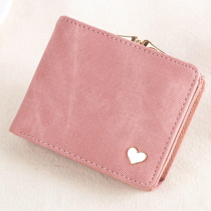 2019 Heart Decoration Clutch Wallet MultiFunction Change Purses Big Capacity Women Wallets Cute Card Holder Money Bag PU Leather