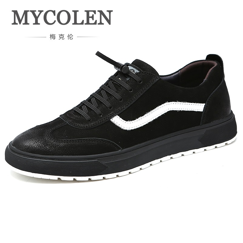 MYCOLEN Hot Sale Men Spring/Autumn Casual Shoes Fashion Soft Breathable Lace-Up Comfortable Male Sneakers Sapatos Homens spring autumn casual men s shoes fashion breathable white shoes men flat youth trendy sneakers