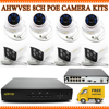 4 Channel 2MP POE NVR With 4Pcs Indoor 1080P 2 0MP Full HD POE IP Cameras