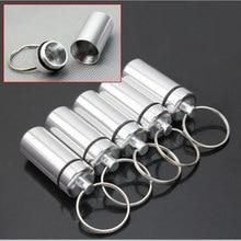 6 шт.* водонепроницаемый алюминиевый водонепроницаемый чехол для таблеток, бутылка для хранения лекарств, брелок для лекарств, контейнер V1739-7