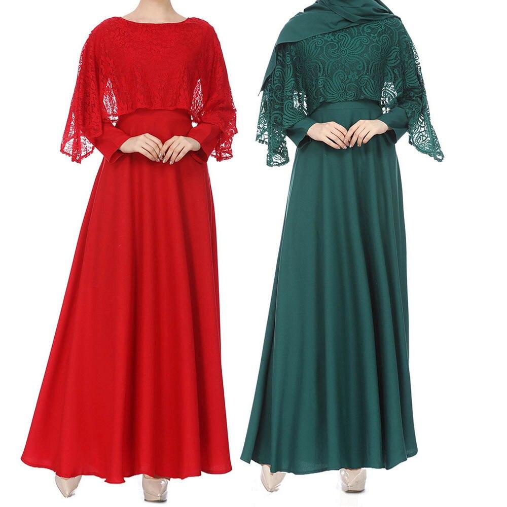 Uae Abaya Dubai Kaftan Malaysia Ruffle Pleated Muslim Women Muslim Kaftan Abaya Jilbab Long Sleeve Lace Long Maxi Dressy53 Strengthening Waist And Sinews Strollers Accessories