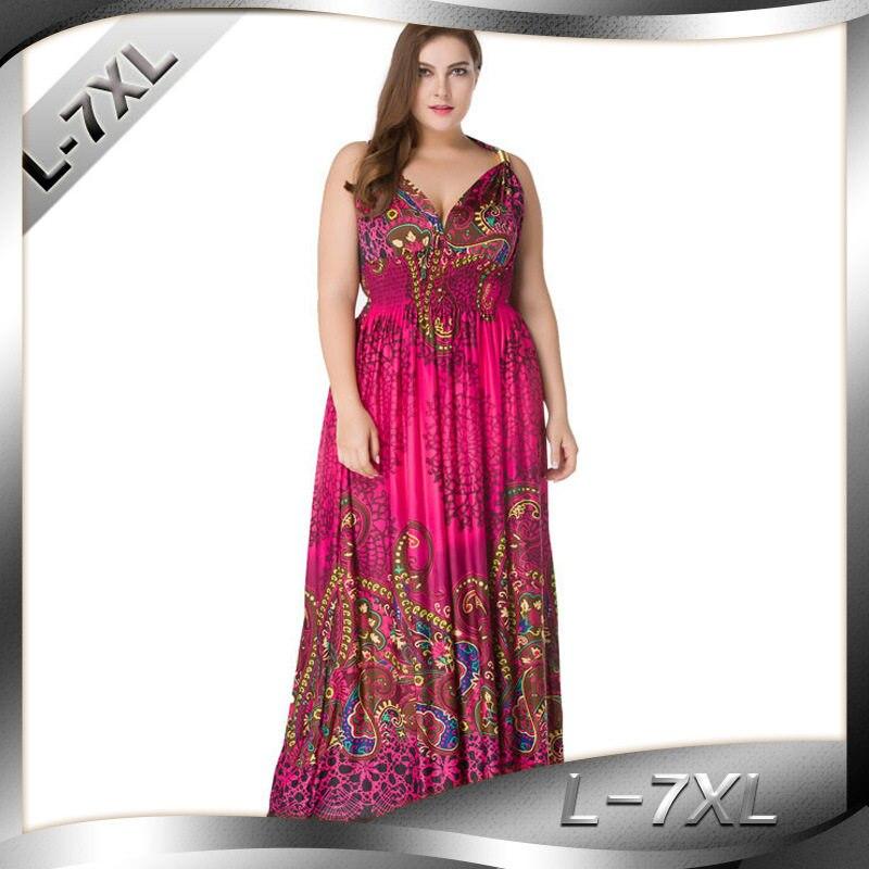 cc3dddc6815e H Summer Tunic Beach Dress Big Size 2018 Boho Long Dress Maxi Floor Length