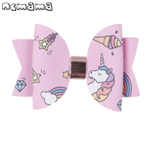 2 Pcs/lot 3 Inch Fashion Printed Hairgrips Swallowtail Soft Hair Clips Boutique Handmade Hairbow For Girls Accessories