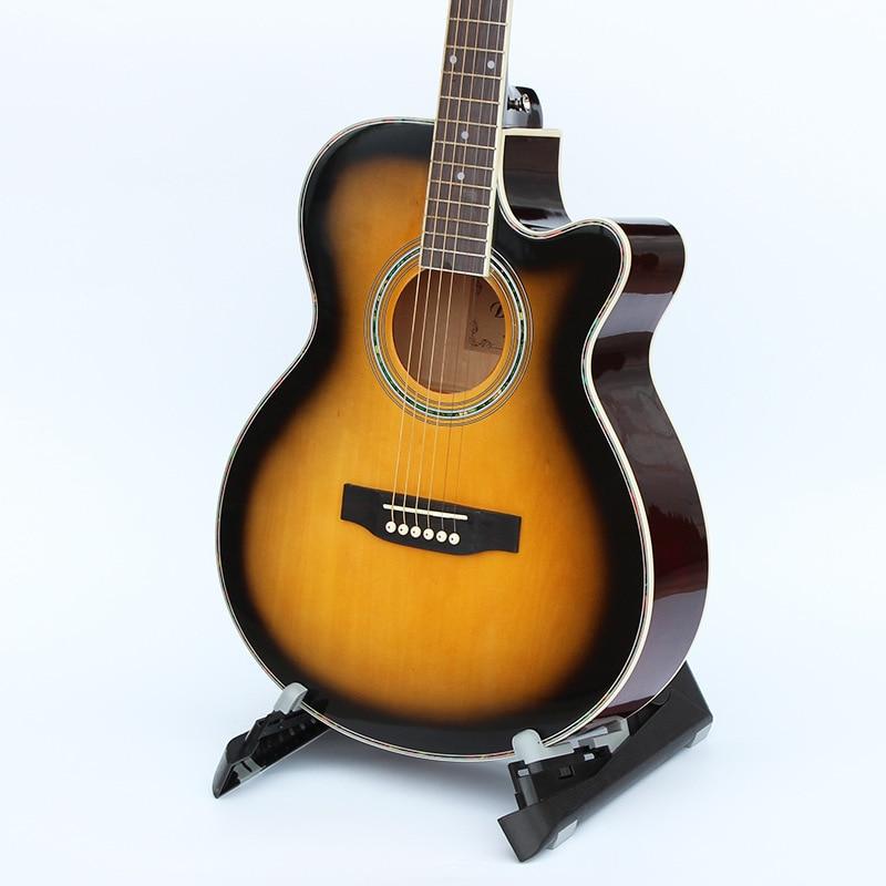 1 pièces guitares 40-5 40 pouces Guitare Acoustique Touche En Palissandre guitarra avec cordes de guitare avec étui rigide