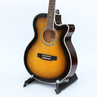 1pcs guitars 40 5 40 inch Acoustic Guitar Rosewood Fingerboard guitarra with guitar strings with hardcase