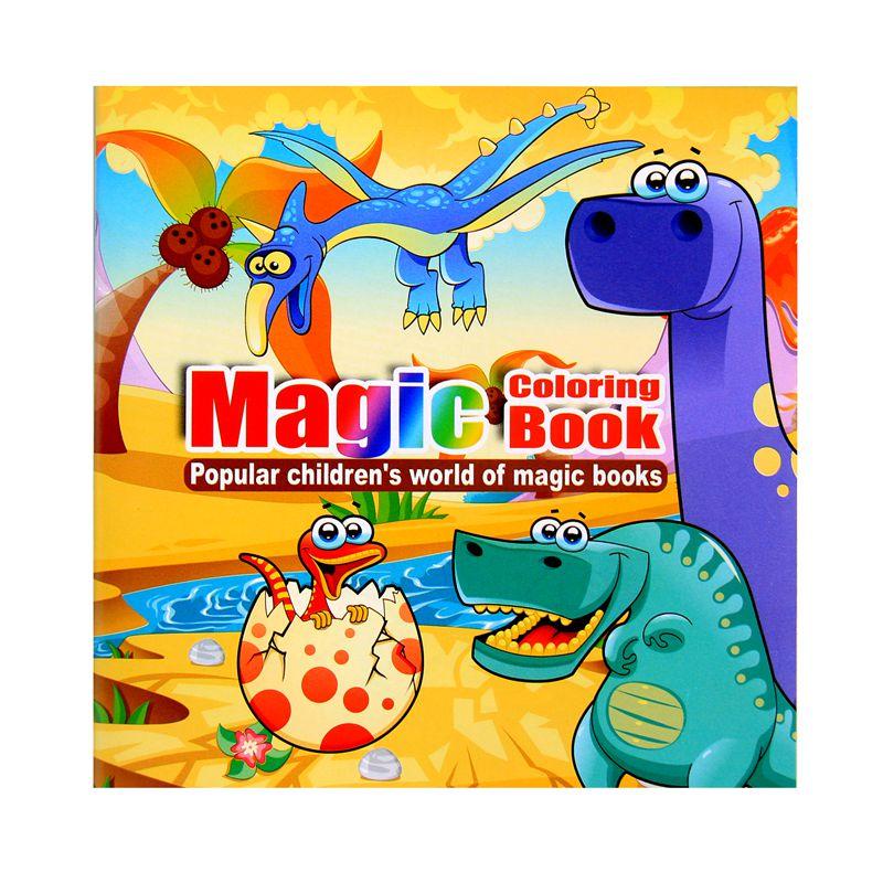 Dinosaur cartoon puzzle books coloring book children's Intelligence development parent-child interaction interest cultivation