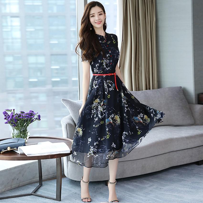 20b20f089f8 Summer Vintage Chiffon Floral Dress Plus size Maxi sundress Boho 2018  Elegant Women club Midi dresses. sku  32869549126