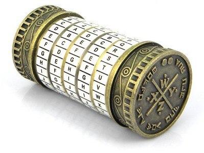 Leonardo da Vinci jouets éducatifs métal Cryptex serrures idées cadeaux vacances noël cadeau à marier amant évasion chambre - 3