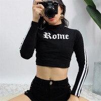 Summer Sexy T Shirt Women Open Navel O Neck Long Sleeve Reverse Back Wear Design Tops