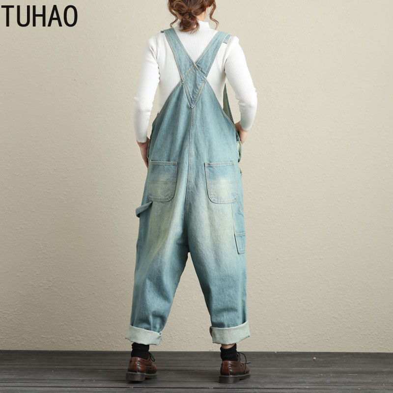 No 2 Overalls Hole Spring 2 Tuhao Casual Colors Loose Summer Print Jumpsuits Women 2019 Denim Length Vintage 1 Full no wzz8xq5aT