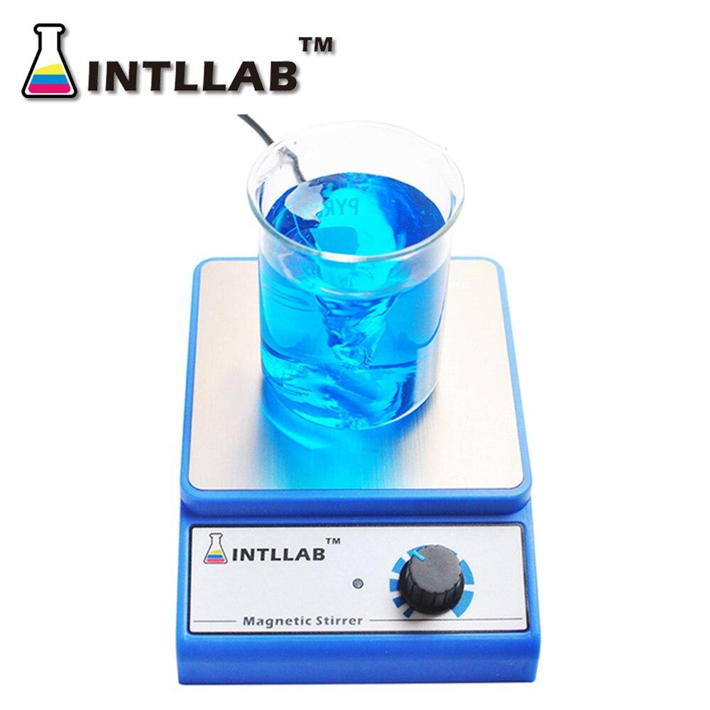 INTLLAB Agitador Magnético Misturador Magnético com Barra de Agitação Agitação Máxima 3000 rpm Capacidade: 3000 ml