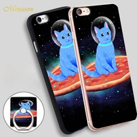 Minason Cat Pizza Space Soft TPU Silicone Phone Case Cover for iPhone X 8 5 SE 5S 6 6S 7 Plus