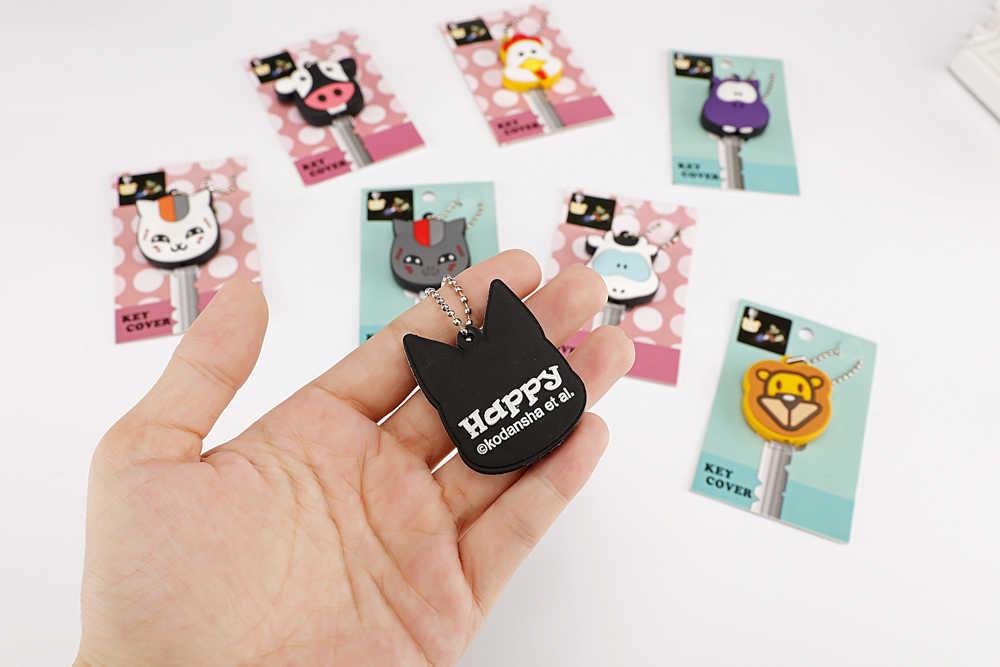 Nette Cartoon Silikon Licht Schlüssel Abdeckung Cap Mickey Keychain Frauen Tasche Charme Zubehör Schlüssel Ketten Porte Clef