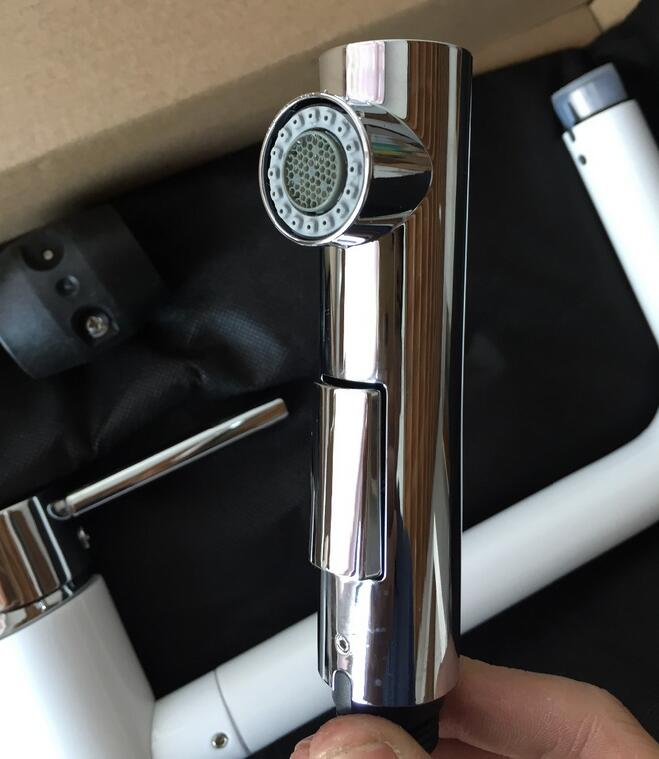 2015 pull out kitchen faucet white crane spray lacquer kitchen ...